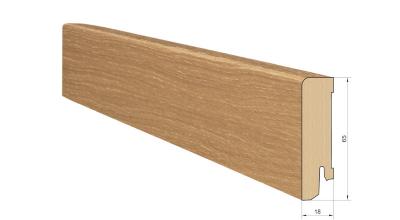 Medinė faneruota grindjuostė Pedross Ąžuolas lakuota 18*65 MM