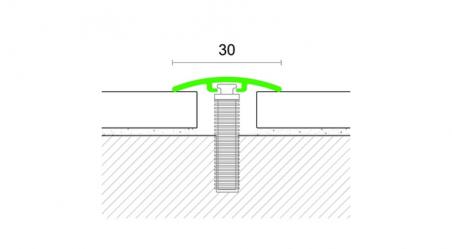 Grindų jungimo profilis 27ST Sidabras
