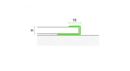 Grindų užbaigimo profilis RC11 Sidabras