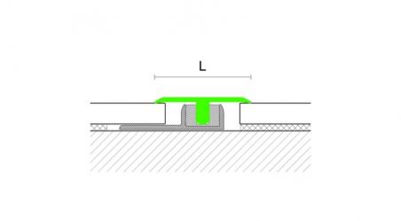 Grindų jungimo profilis Z3 Sidabras
