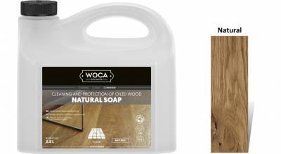 Muilas medinėms grindims Woca Natural Soap, 2,5 L nuotrauka