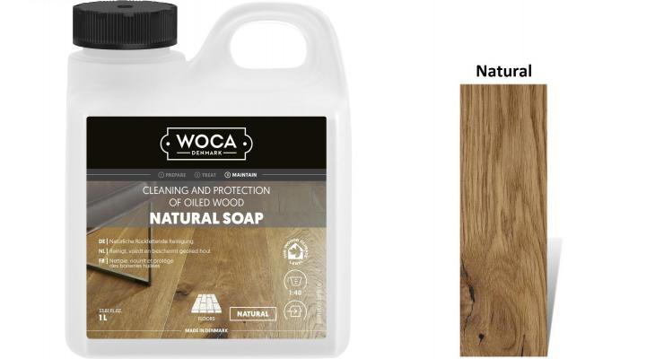 Muilas medinėms grindims Woca Natural Soap, 1 L