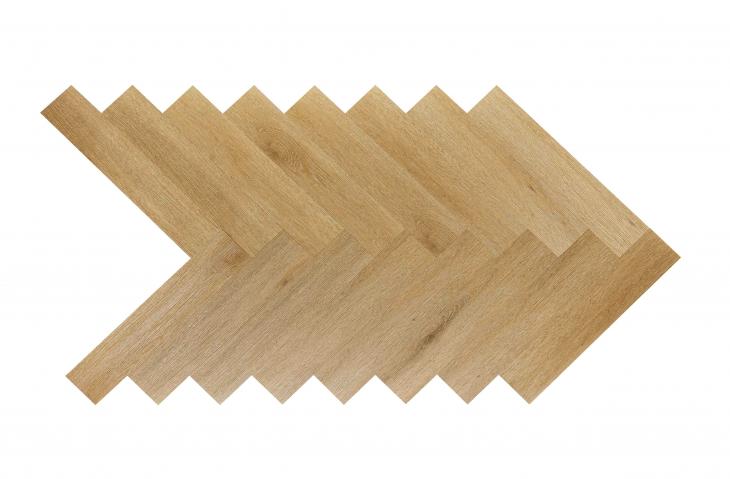 Akustinė SPC vinilinė grindų danga Nomad Flo Heringbone Cordoba