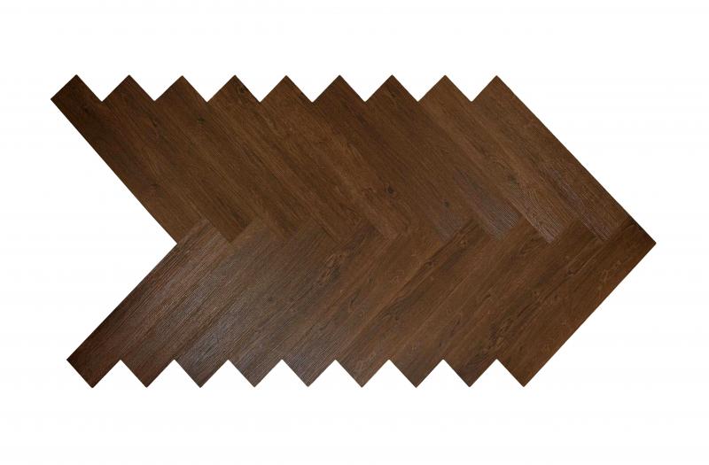Akustinė SPC vinilinė grindų danga Nomad Flo Heringbone Vitoria